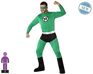 Atosa-61462 Atosa-61462-Disfraz Heroe Comic-Adulto Hombre, Color verde, M a L (61462