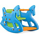 Ok Play Roxy Two in One Rocking Chair with Safety Bar and Arm Rest for Kids (Yellow)