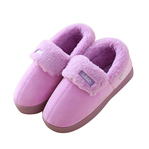 Morbide scarpe di cotone pantofole inverno autunno interno casa slippers per donna e uomo da pingenaneer 24cm/39-40 viola