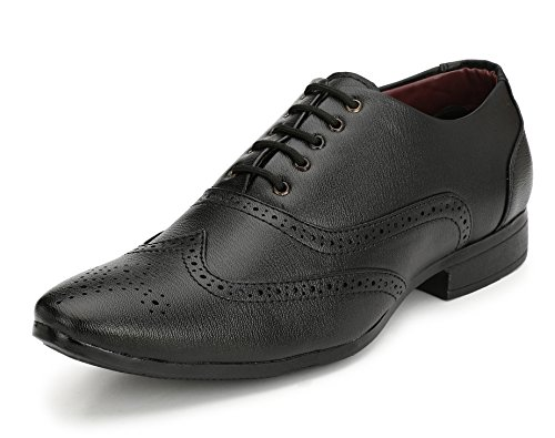 Fucasso Men's Synthetic Black Formal Brogue Shoes