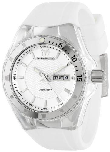 TechnoMarine Unisex 110045 Cruise Original 3 Hands Silver Dial Watch