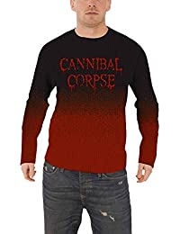 Cannibal Corpse Jumper Sweater Dripping band Logo nouveau officiel Homme Dip Dye