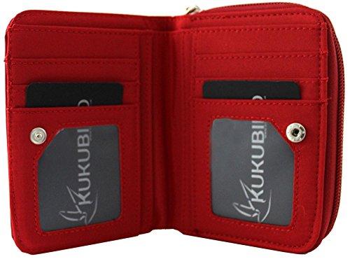 Kukubird nuove ragazze / Signore bassotto Medium fumetto disegni Purse Wallet Red