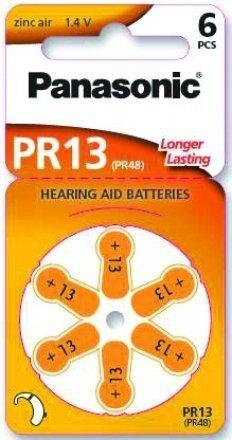 Panasonic PR13 Zink-Luft-Batterien für Hörgeräte, Typ 13, 1.4V, Hörgerätbatterien, 10 Packungen (60 Stück), orange Panasonic Digital-batterie