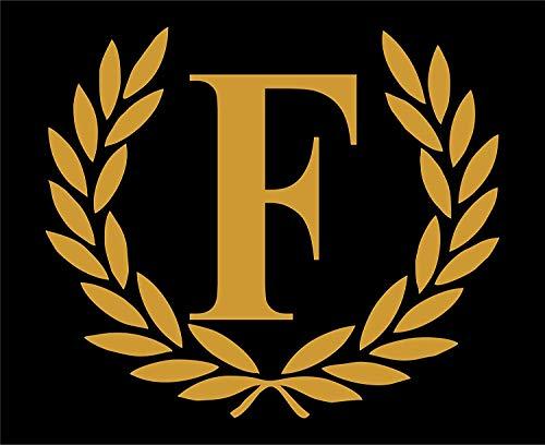 ufkleber Buchstaben F Dekorative Monogramm 9