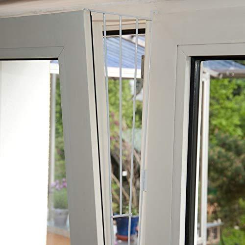 2x Trixie Kippfenster-Schutzgitter, Seitenelement, weiß - 62x16/8cm, inkl. Schrauben