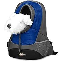 Mochila para gatos, Goodid mochila bolsa bolso hombro para llevar mascotas gatos y perros a salir y viajar con abertura (Azul, 42*29*17cm)