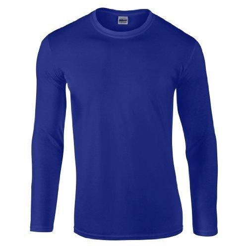 Gildan Softstyle?-Maglietta a maniche lunghe blu XX-Large