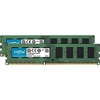 مجموعة كروشال 16 جيجابايت (8 جيجابايت x2) DDR3L 1600 MT/s (PC3L-12800) ذاكرة UDIMM غير محمية CT2K102464BD160B