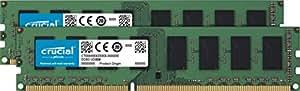Crucial CT2K25664BD160B 4Go Kit (2Gox2) (DDR3L, 1600 MT/s, PC3L-12800, DIMM, 240-Pin) Mémoire