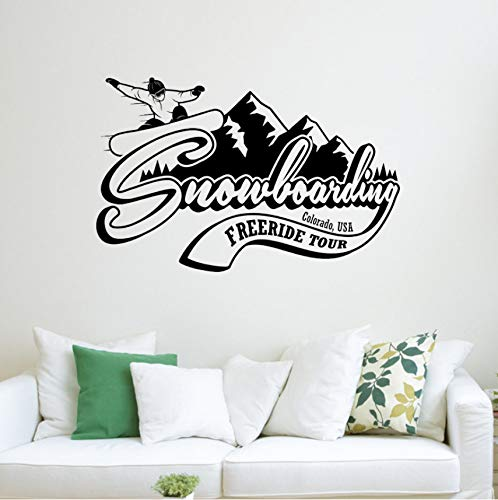 Lsfhb Attraktive Wall Decal Sticker Us Snowboard Berge Colorado Extrem Winter Sport 57X36Cm - Colorado Decals
