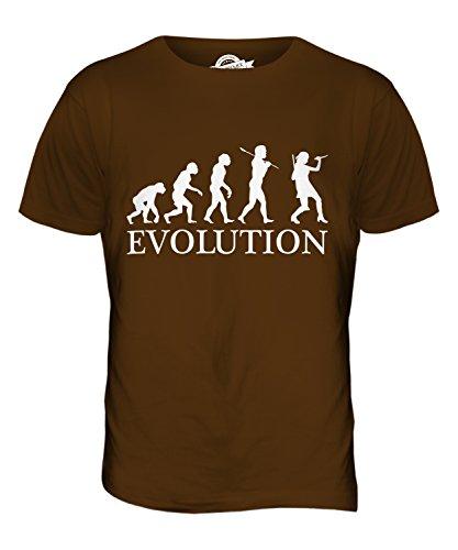 CandyMix Krimi Evolution Des Menschen Herren T Shirt Braun