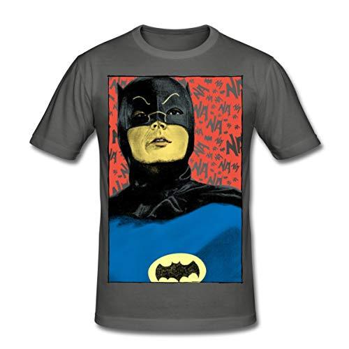 Spreadshirt DC Comics Batman Vintage Kostüm Porträt Männer Slim Fit T-Shirt, M, Graphite