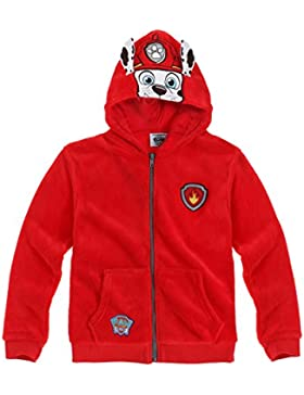 Paw Patrol Ragazzi Giacca Felpa in pile 2016 Collection - rosso