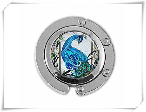Geldbörse Haken Blau Pfau Vogel natur Schirmhalter Handtasche Aufhänger Schirmhalter Und Kleiderbügel