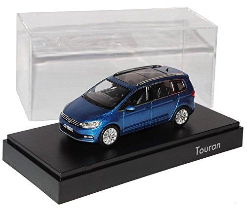 Preisvergleich Produktbild VW Volkswagen Touran II Caribbean Blau Ab 2015 1/43 Norev Modell Auto mit individiuellem Wunschkennzeichen