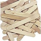 Anshartandcraft Wooden Ice Cream Stick & Spoon : 200 Pcs Pack (Natural Ice Cream Stick)