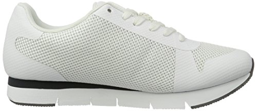 Calvin Klein Jeans Jacques Mesh/Hf, Sneakers Basses Homme Blanc (Wht)