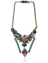 Sweet Deluxe Damen Halskette Messing rhodiniert Glas sweet deluxe  mehrfarbig 049