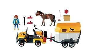 Playmobil - 3249 - La Vie à la ferme -  Cavaliere + Jeep + Van