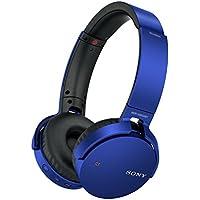Sony MDR-XB650BT kabelloser Extra-Bass Kopfhörer (Bluetooth, NFC, weiche On-Ear Ohrpolster, hoher Tragekomfort, gute Schallisolierung) blau