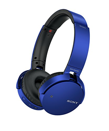 Sony MDR-XB650BT Cuffie Chiuse Wireless con bassi potenziati, Driver da 30 mm, Bluetooth, NFC, Blu