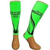 Shinnerz inner sock - under shin pad / guard (Green Pro, Medium 13-14yrs)