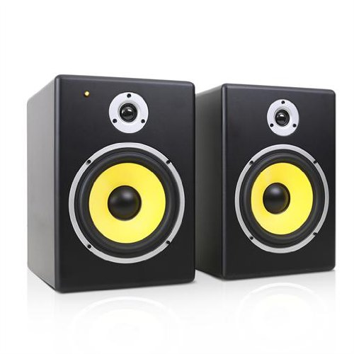 Power Dynamics PDSM8 Coppia casse monitor attive (2 x 30 Watt RMS, a 2 vie, subwoofer da 16,5 CM, crossover integrato)