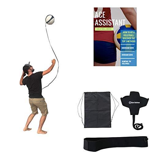Volleyball-Trainingsgeräte Ballrückprallhilfe zum Üben von Solo-Arm-Schwingungsdrehungen, Werfen von Überhand-Aufschlägen und Schlagen von Spikes   Leine führt Volleyball zu Ihnen zurück.