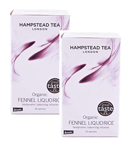 Balancing Infusion (Hampstead Tea London Bio & Fairtrade Fenchel Lakritze Biodinamic Balancing Infusion / Bio Biodynamische und Fairtrade Infusion mit Fenchel und Lakritze - 2 x 20 Teebeutel (60 Gramm))