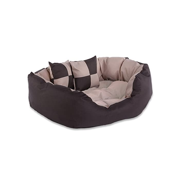 dibea Hundebett - Hundekissen - Hundesofa abwischbar mit Wendekissen (Größe und Farbe Wählbar) 1