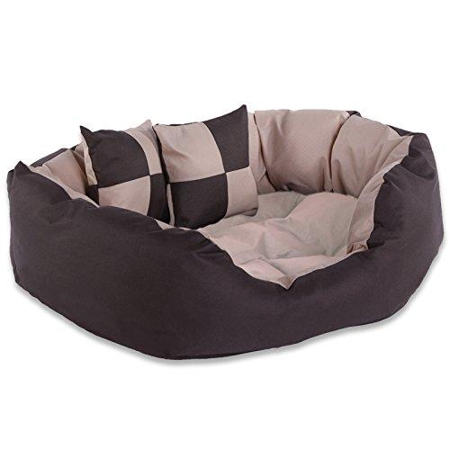 Dibea Cuscino per Cani, Marrone/Beige, 65 X 50 X 20 Cm