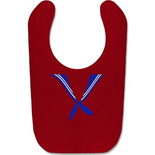Shirtracer Karneval und Fasching Baby - Matrose Kostüm Tuch - Unisize - Rot - BZ12 - Baby Lätzchen Baumwolle