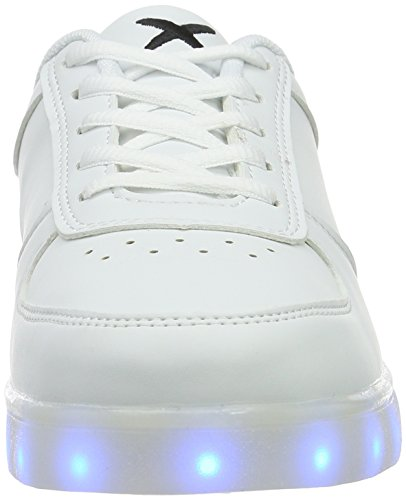 Wize & Ope LED, Baskets Basses Mixte Adulte Blanc - Weiß (white 01)