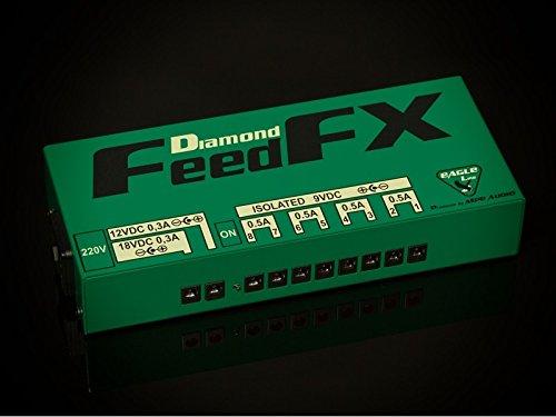 MPE - Alimentatore analogico / digitale ibrido professionale 9-12-18v per pedali effetto pedale effetto chitarra basso mod: FEEDFX DIAMOND