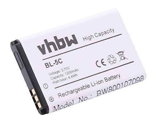 vhbw Li-Ion Akku 1200mAh (3.7V) für Handy Telefon Smartphone Swissvoice MP03, SV29, SV-29, Tecno HD61 Album