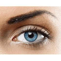 Lentilles de contact de Couleur naturelle (BLEU) Sans correction- 1 paire (2 pièces)- étui à lentilles gratuit - des lentilles de luxe hollywood
