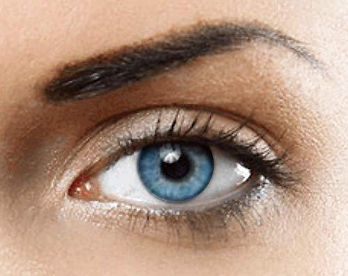 YWOOD Farbige Kontaktlinsen natürliche (BLAU) ohne Stärke,1 paar, (2 Stücke) Jahreslinsen + gratis Kontaktlinsenbehälter ()
