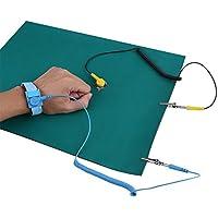 YWBL-WH Correa antiestática, correa de muñeca antiestática Juego de tapetes de conexión a tierra para la reparación del teléfono