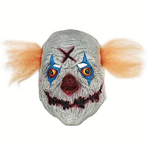 Halloween Latex Maske Beängstigend Blutigen Clown 3D Neuheit Gruselig Teufel Kostüm Partei Cosplay Requisiten Rollenspiel Spielzeug