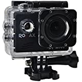 Romax Action Camera RM-8000 4K Ultra HD Video Recording 1920x1080p 60fps Go Pro Style Action Camera With Wifi -16 Megapixels - Black