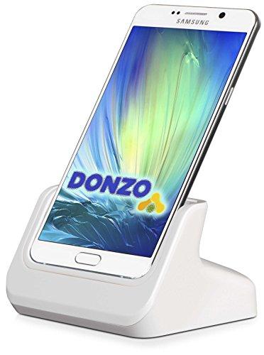 DONZO USB Docking-Station|Ladegerät für Samsung Galaxy Note 5 inkl. micro-USB Daten-Kabel Weiß -