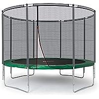 Preisvergleich für Ampel 24 Outdoor Trampolin 305 cm grün komplett mit außenliegendem Netz, Belastbarkeit 150 kg, Sicherheitsnetz mit Stabilitätsring und 8 Gepolsterten Stangen