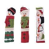 SLYlive 1 Satz von Weihnachten Mikrowelle Türgriff gesetzt Kühlschrank antistatische Doppeltür Griff Handschuhe-5449 Handschuhe 3 Stück Set -02