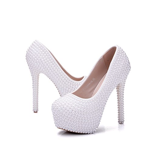Minitoo Heel chaussures White Qtfwgt Plateforme 14cm Femme 4UxqAUO