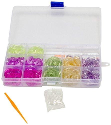 Preisvergleich Produktbild Glow2B Spielwaren 5620085 - Loom's  Box Glitter, 360 Stück