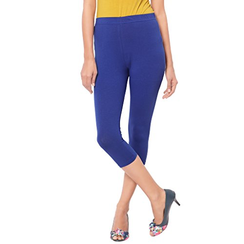 Leggings Capri Style Blue For Women | 95 % Cotton and 5 % Lycra| 3/4th leggings| Free Size Comfortable Premium Quality | Ultra Soft Fabric | High Waist For Girls | Best Fits 24\'\' To 34"|500|500|?|en|2|cc6ec04c746c6c1f48ddb66320904b8f|False|UNLIKELY|0.3075513541698456