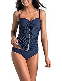 Gwinner Damen Tankini - Badeanzug - Zweiteilig Aus Hochwertigem Stretch-Material - Widerstandsfähig Gegen Chlor Und UV - #Gwn Estella