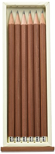 Graf von Faber-Castell Wooden Pencil with Silver Crown (Pack of 6)