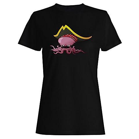 Nouvelle Conception De Pieuvre Pirate Dames T-shirt h526f